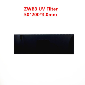 253.7 254nm ZWB3 UV-Pass Filter 50*200*3.0 mm UG5 U-330 Minerálne Fluorescenčná Lampa Sklo